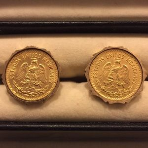 Jewelry - Mexican Coin 14k Cufflinks - Unisex